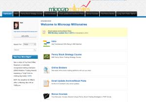 Microcap Millionaires  Dashboard